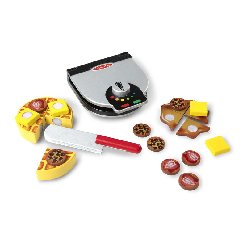 Play Food And Kitchen - Melissa & Doug Wooden Press & Serve Waffle Set