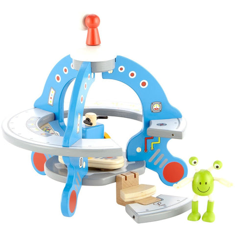 Hape UFO Playset with Friendly Alien - Playscapes - Anglo Dutch Pools and Toys