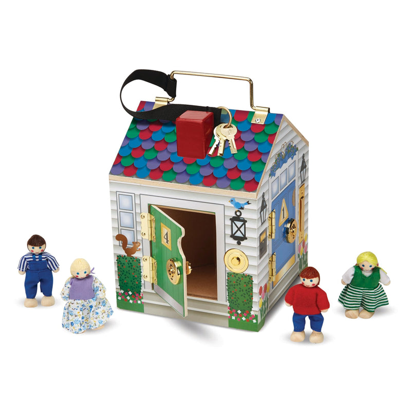 Playscapes - Melissa & Doug Wooden Doorbell House