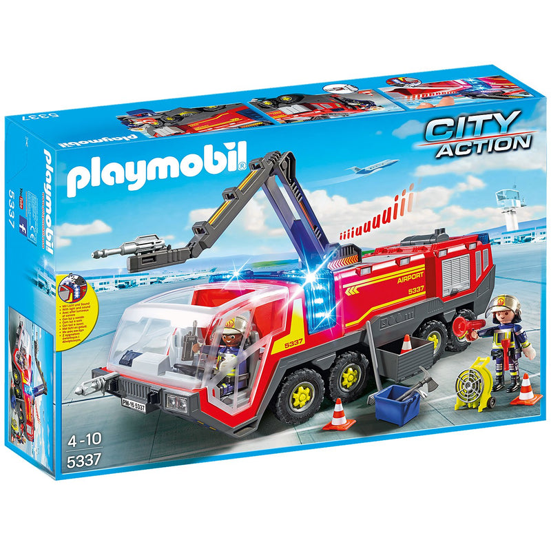 Playscapes - Playmobil 5337 Airport Fire Engine With Lights And Sound