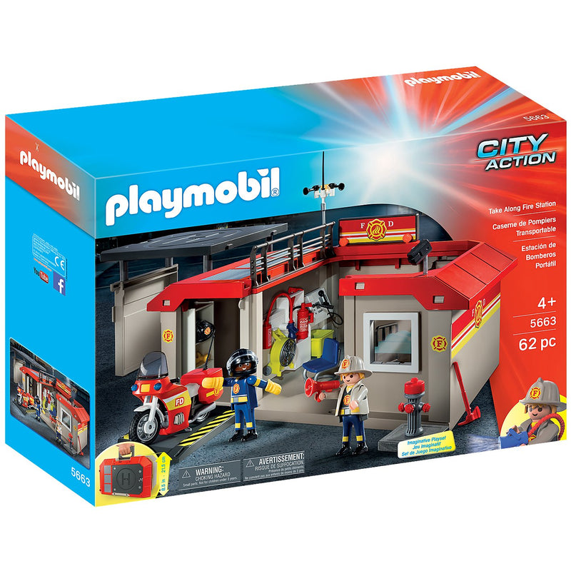 Playscapes - Playmobil 5663 Take Along Fire Station