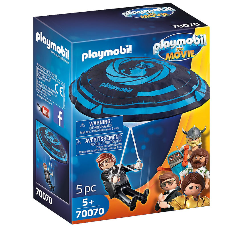 Playscapes - Playmobil 70070 THE MOVIE Rex Dasher With Parachute