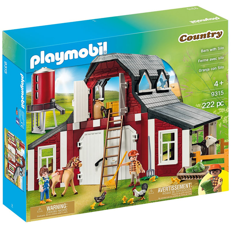 Playscapes - Playmobil 9315 Barn With Silo
