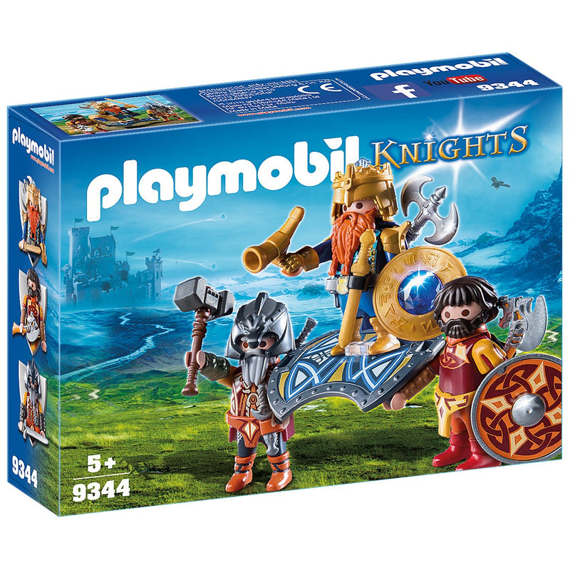 Playscapes - Playmobil 9344 Dwarf King With Guards
