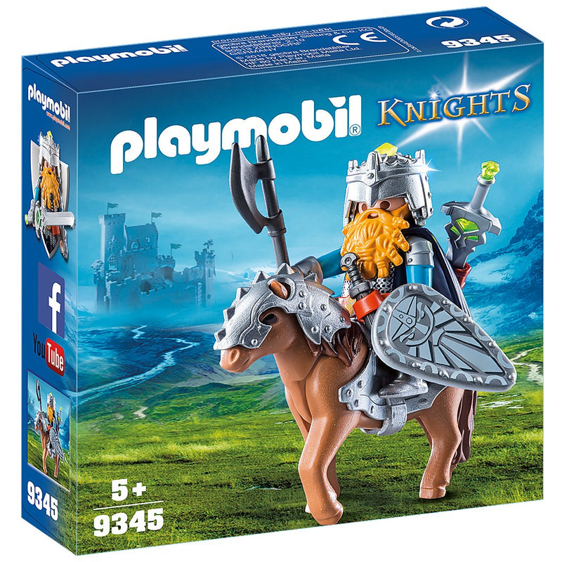 Playscapes - Playmobil 9345 Dwarf Fighter With Pony