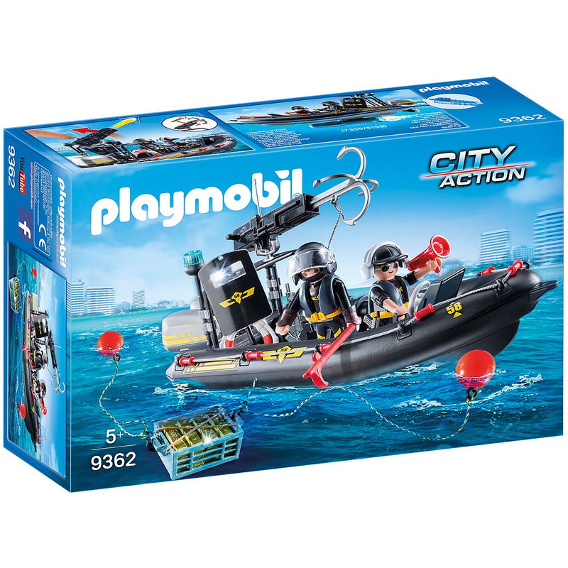Playscapes - Playmobil 9362 Tactical Unit Boat