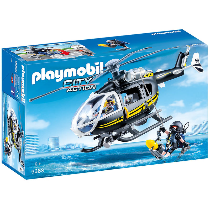 Playscapes - Playmobil 9363 Tactical Unit Helicopter