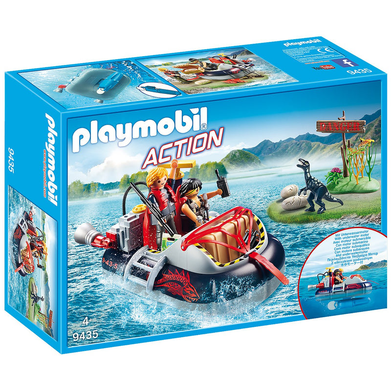 Playscapes - Playmobil 9435 Dino Hovercraft With Underwater Motor