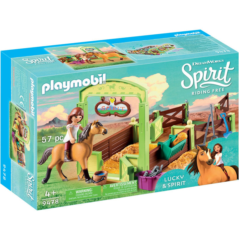 Playscapes - Playmobil 9478 Lucky & Spirit With Horse Stall