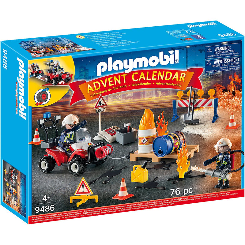 Playscapes - Playmobil 9486 Advent Calendar Construction Site Fire Rescue