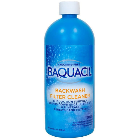 Pool Chlorine Alternatives - Baquacil Backwash Filter Cleaner (1 Qt)