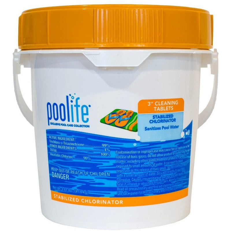 Pool Sanitizers - Poolife 3 Inch Cleaning Tablets