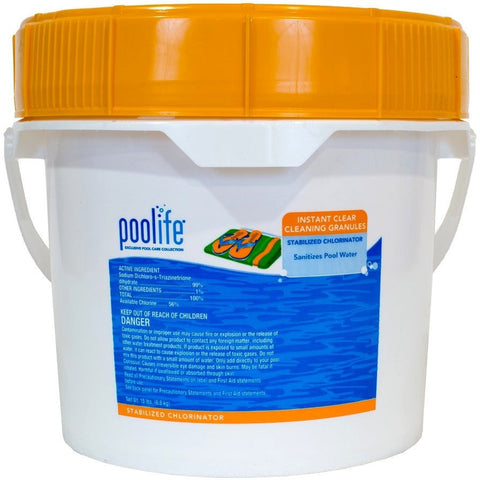 Pool Sanitizers - Poolife Instant Clear Cleaning Granules (15 Lb)