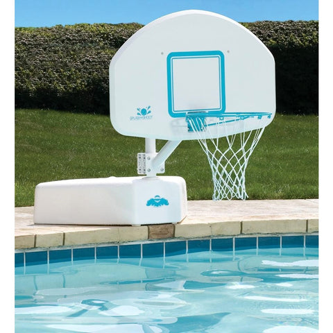 DunnRite Splash & Shoot Stainless Portable Regulation Size Pool Basketball Set- - Anglo Dutch Pools & Toys  - 1