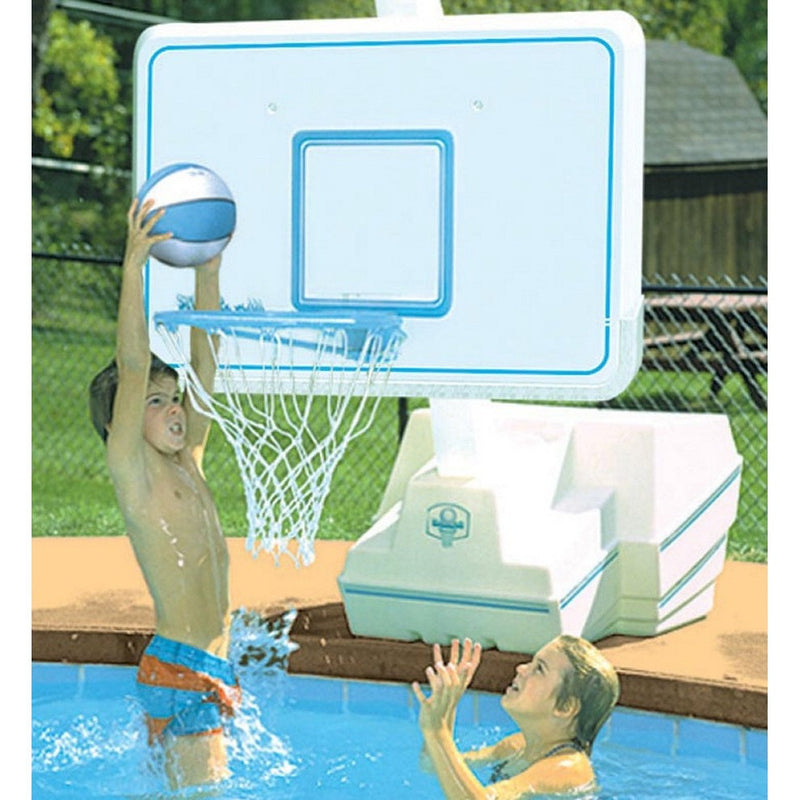 DunnRite Splash & Slam Stainless Portable Regulation Size Pool Basketball Set- - Anglo Dutch Pools & Toys  - 1