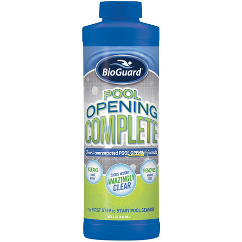 Pool Water Clarifiers - BioGuard Pool Opening Complete (1 Qt)