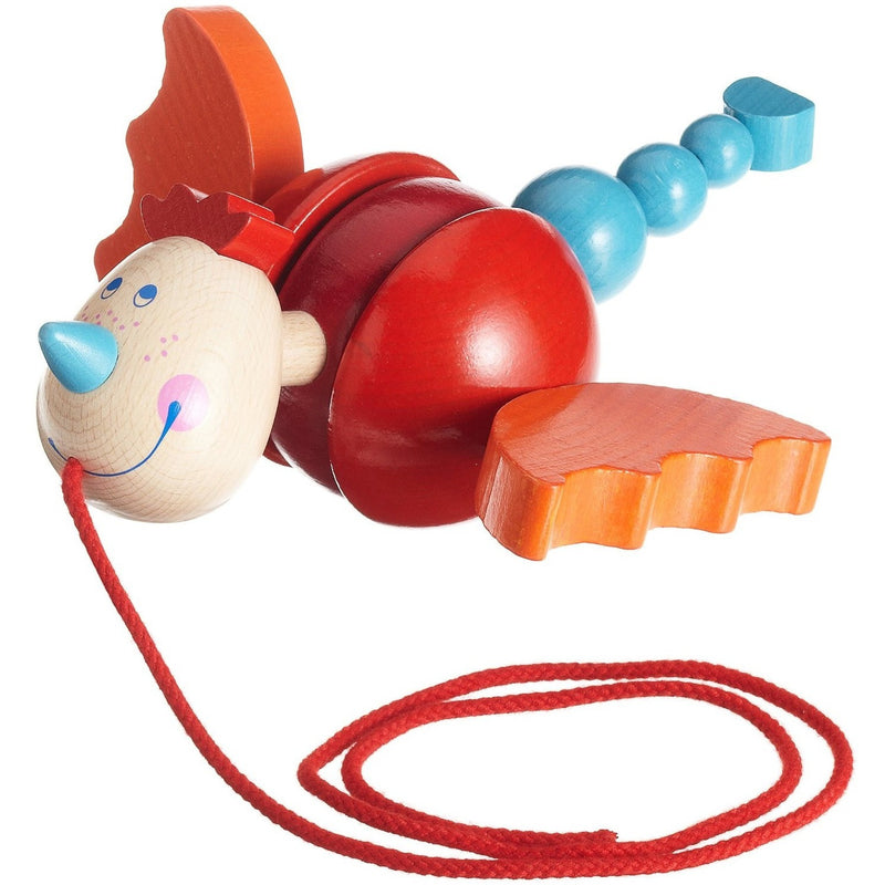 HABA Diego Dragon Pull toy - Push, Pull, and Ride-On Toys - Anglo Dutch Pools and Toys