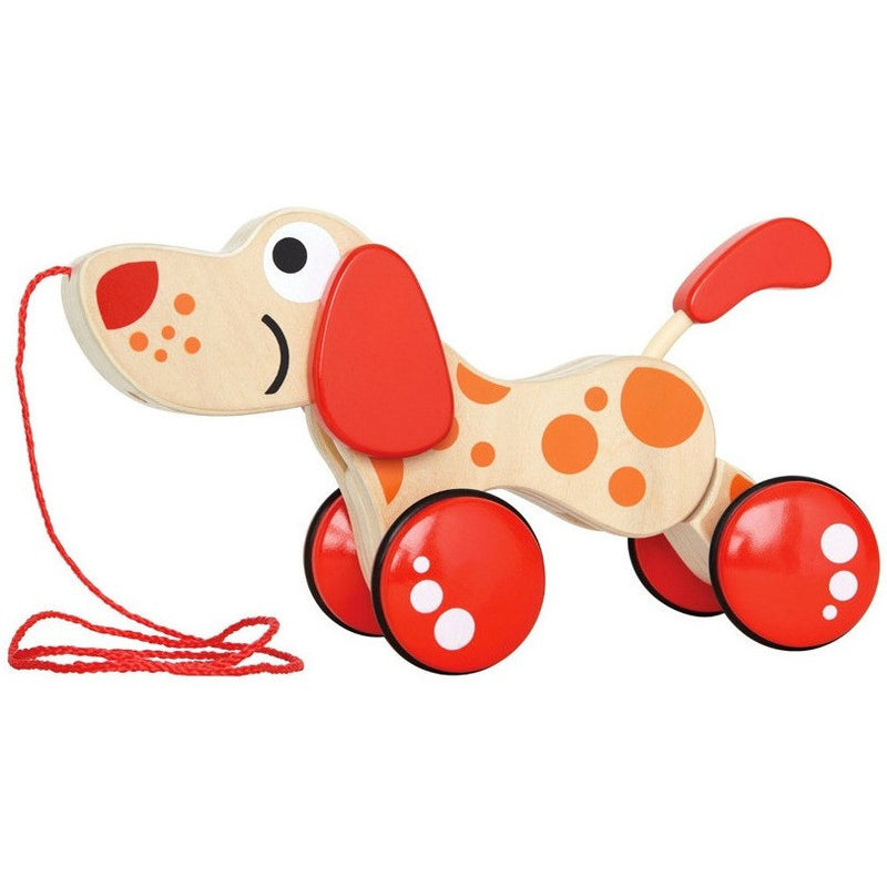 Hape Walk-A-Long Puppy - Push, Pull, and Ride-On Toys - Anglo Dutch Pools and Toys