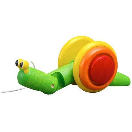Plan Toys Pull-Along Snail Classic - Push, Pull, and Ride-On Toys - Anglo Dutch Pools and Toys