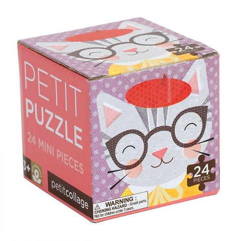 Petit Collage Petit Cat Puzzle- - Anglo Dutch Pools & Toys  - 1