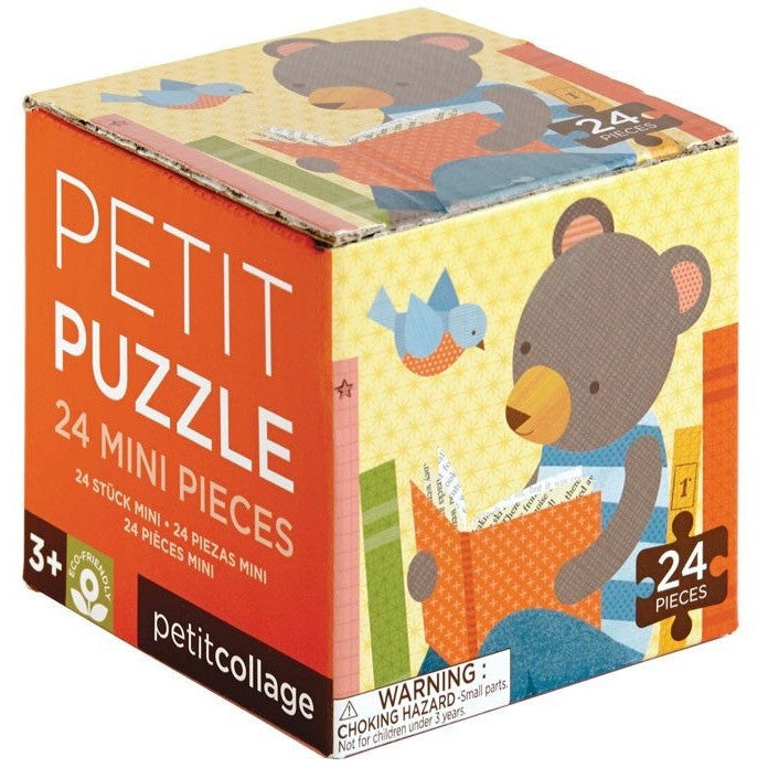 Petit Collage Petit Reading Bear Puzzle - Jigsaw Puzzles - Anglo Dutch Pools and Toys