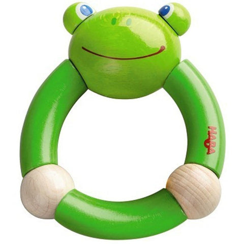 Haba Croaking Frog Clutching Toy - Rattles and Teethers - Anglo Dutch Pools and Toys