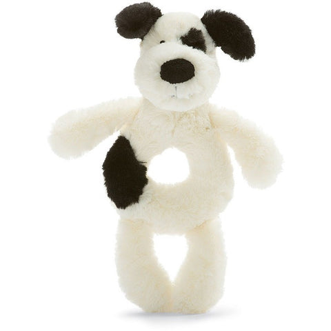 "Jellycat Bashful Black & Cream Puppy Grabber 7""- - Anglo Dutch Pools & Toys"