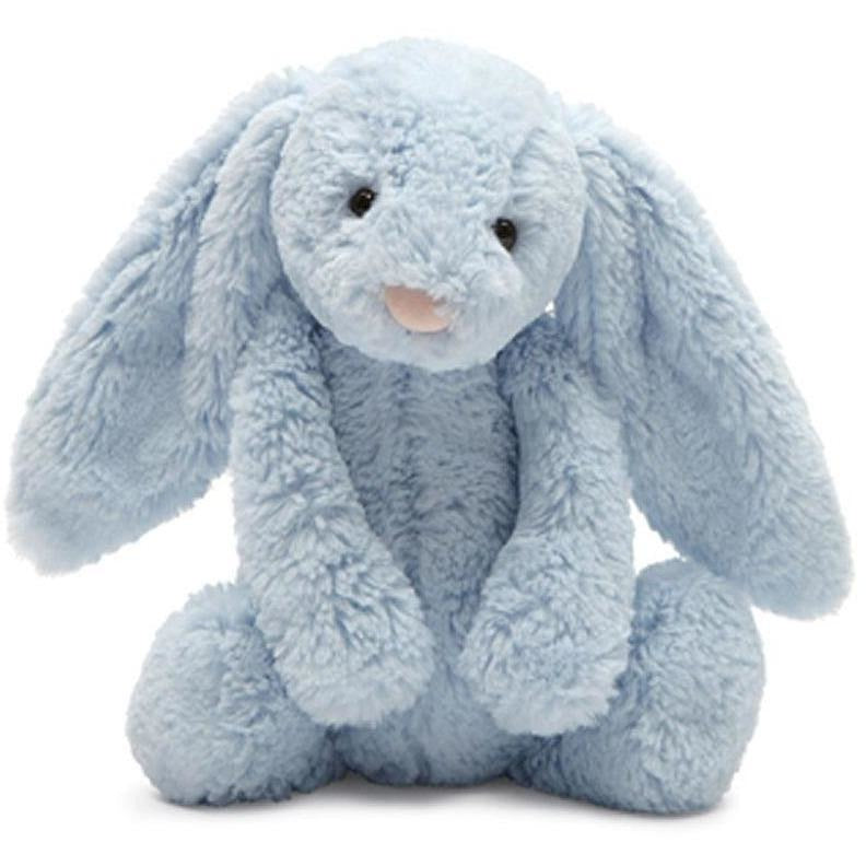 "Jellycat Bashful Blue Bunny Chime 12"" - Rattles and Teethers - Anglo Dutch Pools and Toys"
