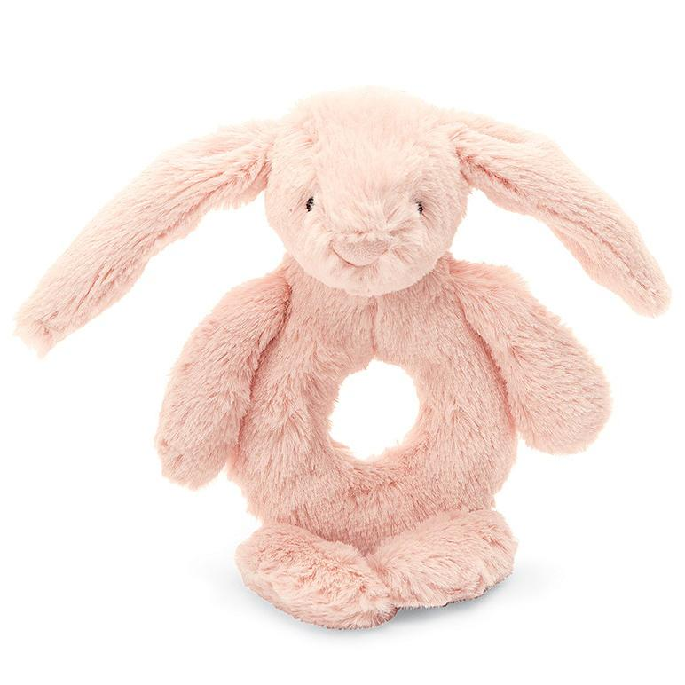 Rattles And Teethers - Jellycat Bashful Blush Bunny Grabber 5""