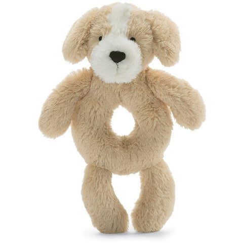 "Jellycat Bashful Honey Puppy Grabber 7"" - Rattles and Teethers - Anglo Dutch Pools and Toys"