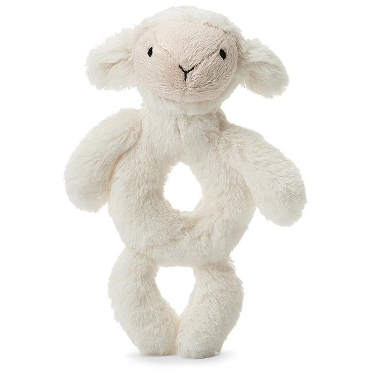 Rattles And Teethers - Jellycat Bashful Lamb Grabber 7""