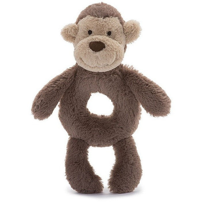 "Jellycat Bashful Monkey Grabber 7"" - Rattles and Teethers - Anglo Dutch Pools and Toys"