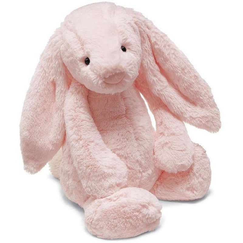 "Jellycat Bashful Pink Bunny Chime 12"" - Rattles and Teethers - Anglo Dutch Pools and Toys"