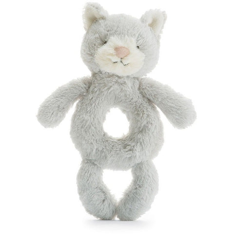 "Jellycat Bashful Silver Kitty Grabber 7"" - Rattles and Teethers - Anglo Dutch Pools and Toys"