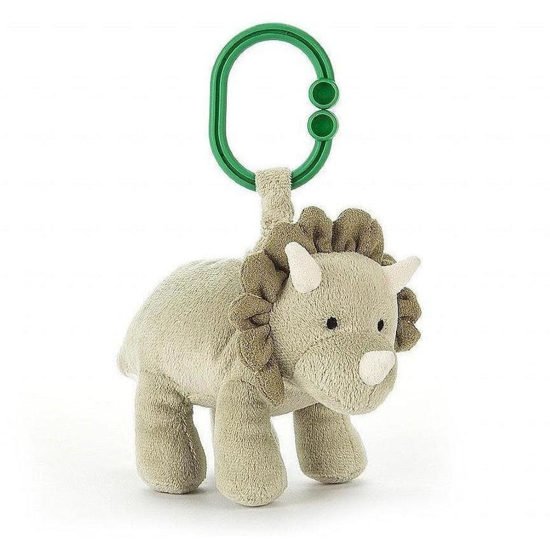 Jellycat Duffie Dino Jitter - Rattles and Teethers - Anglo Dutch Pools and Toys