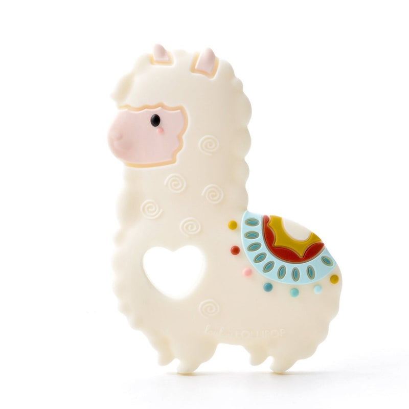 Rattles And Teethers - Loulou LOLLIPOP Llama Silicone Teether - Single