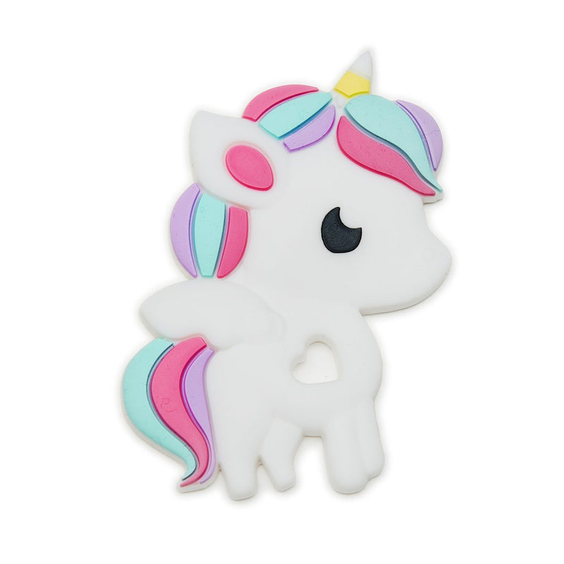 Rattles And Teethers - Loulou LOLLIPOP Rainbow Unicorn Silicone Teether - Single