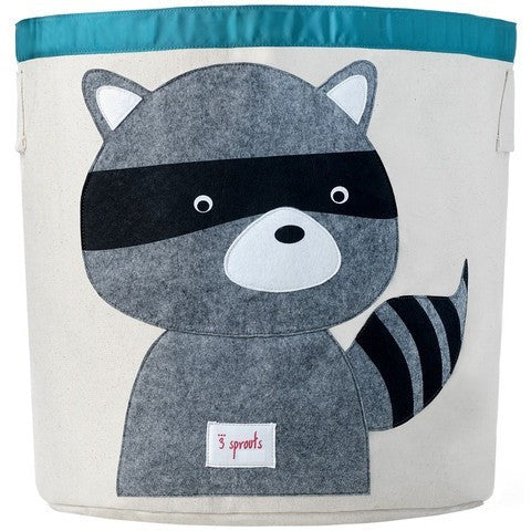 3 Sprouts Storage Bin- Raccoon- Anglo Dutch Pools & Toys  - 1