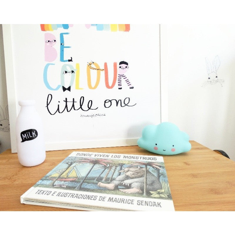 A Little Lovely Company Mini Blue Cloud Light   Room Decor and Storage