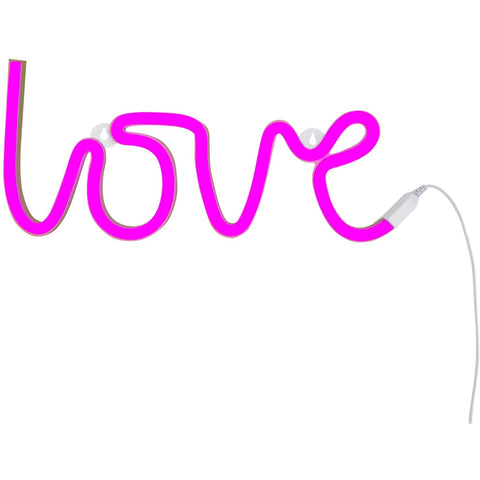 Room Decor And Storage - A Little Lovely Company Neon Style Light: Love– Pink