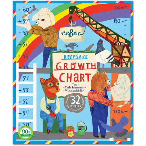 eeBoo Construction Site Growth Chart - Room Decor and Storage - Anglo Dutch Pools and Toys