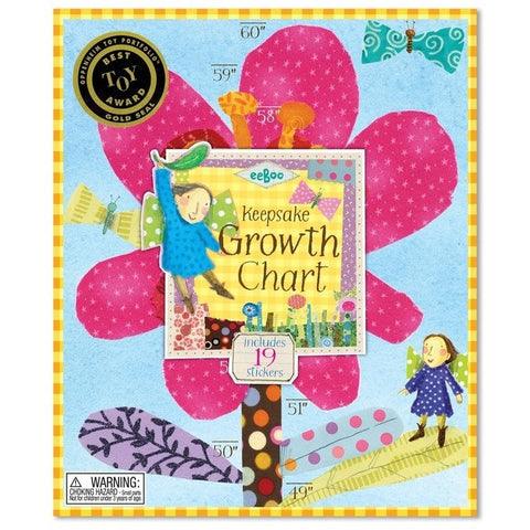 eeBoo Hot Pink Flower Growth Chart- - Anglo Dutch Pools & Toys  - 1