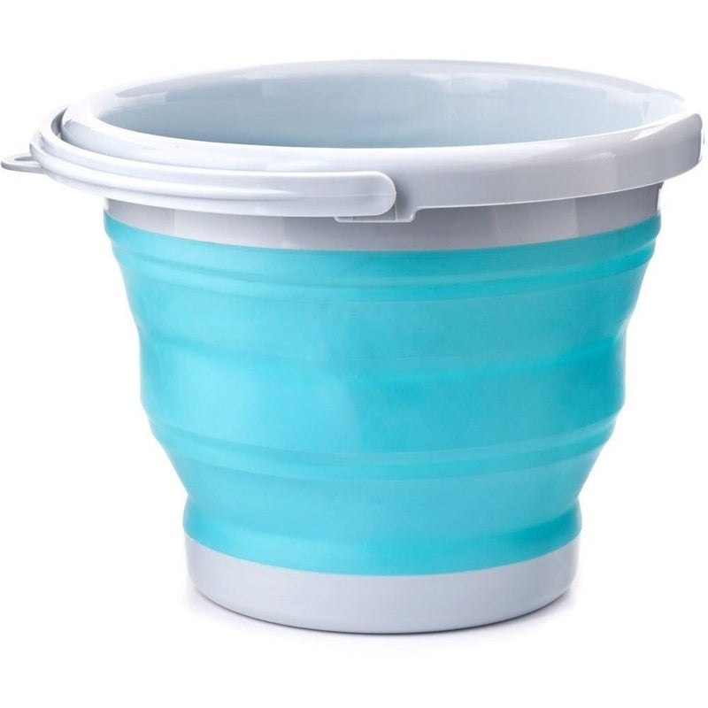 Sand And Beach Toys - Kikkerland Collapsible Bucket Aqua