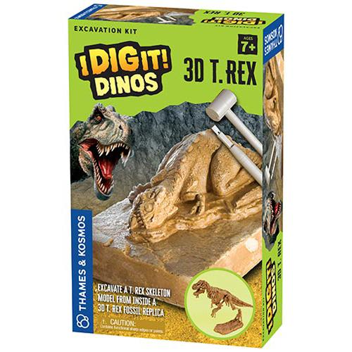 Science Kits - Thames & Kosmos I Dig It! Dinos - 3D T. Rex Excavation Kit
