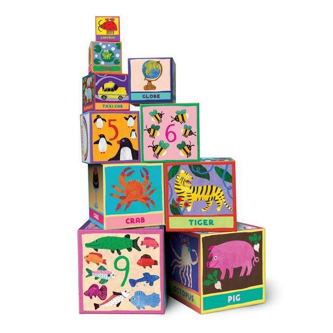 Shape Sorters And Stackers - EeBoo First Words Tot Towers