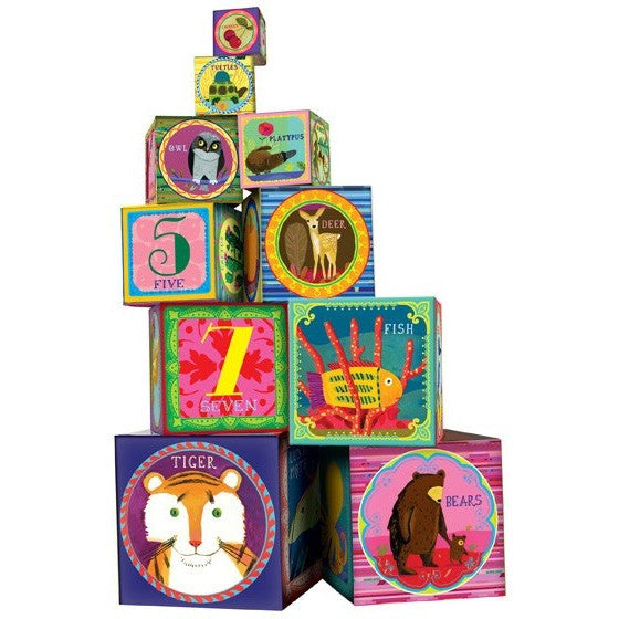 eeBoo Life on Earth Tot Tower - Shape Sorters and Stackers - Anglo Dutch Pools and Toys