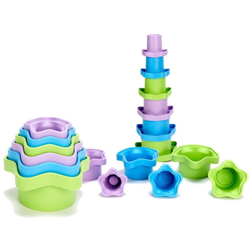 Green Toys Stacking Cups - Shape Sorters and Stackers - Anglo Dutch Pools and Toys
