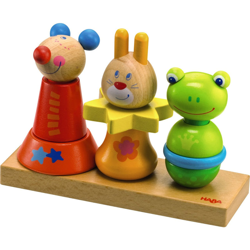 Shape Sorters And Stackers - HABA Animal Trio Set
