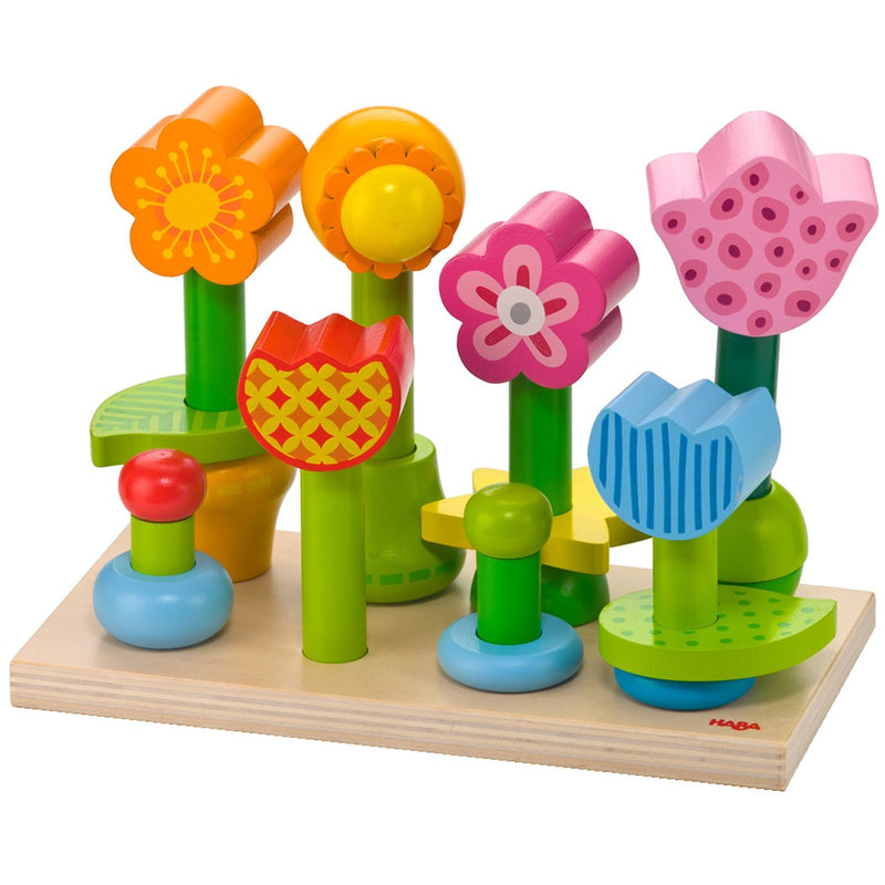 Shape Sorters And Stackers - HABA Bonita Garden Mix & Match Stacking Toy