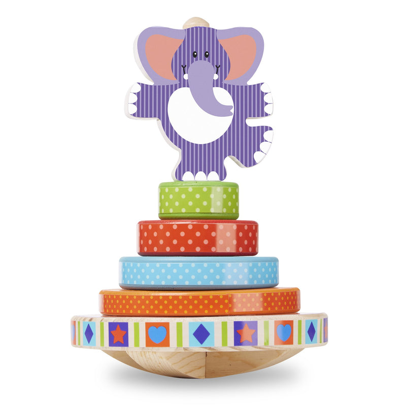 Shape Sorters And Stackers - Melissa & Doug First Play Elephant Rocking Stacker